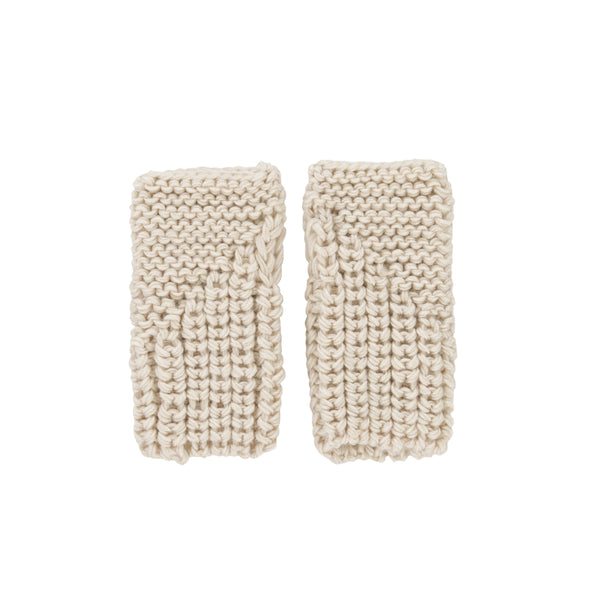 Traveller Fingerless Mittens - Oatmeal