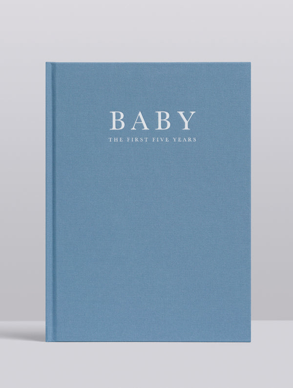 Write To Me - Baby Journal Birth to 5 Years - Blue