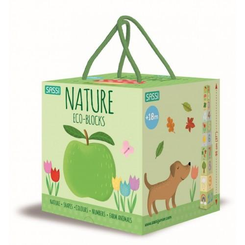 Nature Eco Blocks & Book Set