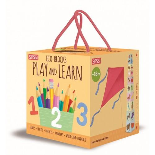 Play and Learn Eco Blocks & Book Set