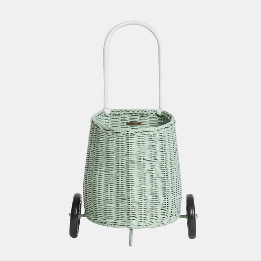 Olli Ella Rattan Luggy Basket - Mint