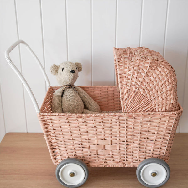 Olli Ella Rattan Strolley - Rose