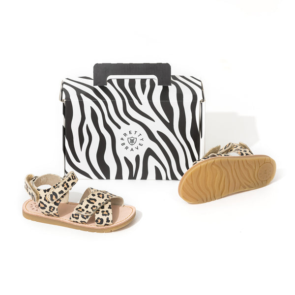 Pretty Brave Dakota Child Sandal - Leopard