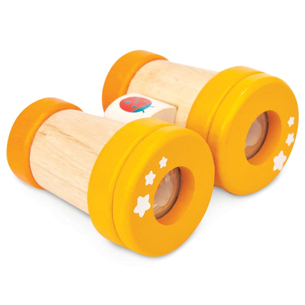 Lady Bird Wooden Binoculars - Yellow