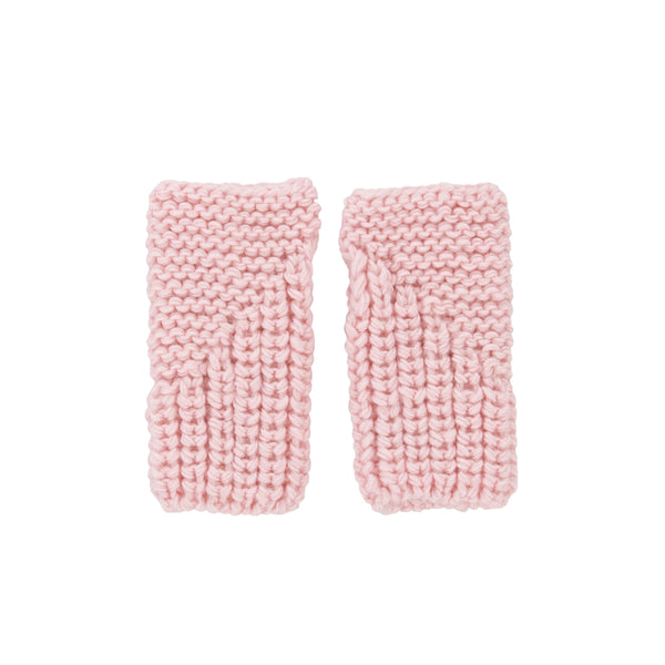 Traveller Fingerless Mittens - Pink