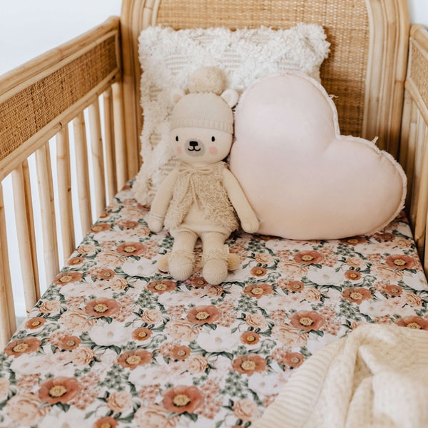 Snuggle Hunny Fitted Cot Sheet - Florence