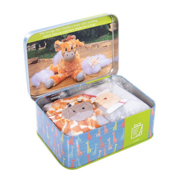 George the Giraffe Sewing Kit in a Tin