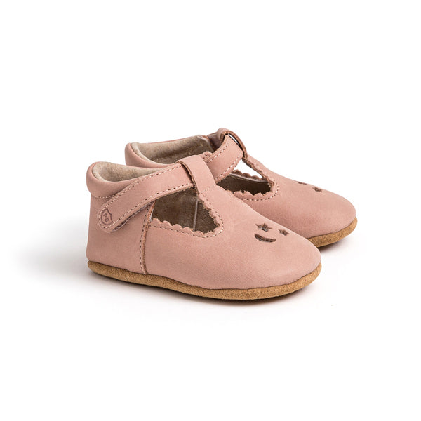 Pretty Brave Leather Baby Morgan Shoes - Star Dust