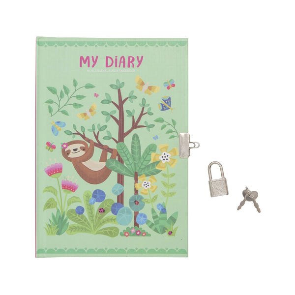 My Lockable Diary - Tropical Sloth