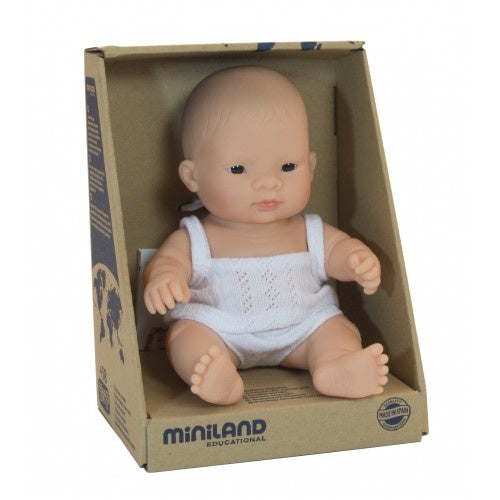Miniland Anatomically Correct Baby Doll Asian Girl, 21 cm