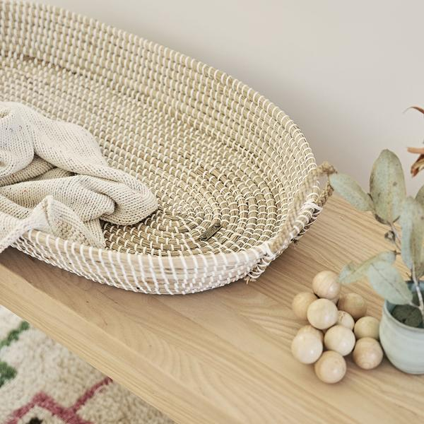 Olli Ella Reva Seagrass Changing Basket