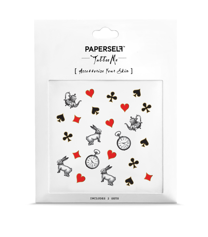 Wonderland Temporary tattoos PAPERSELF