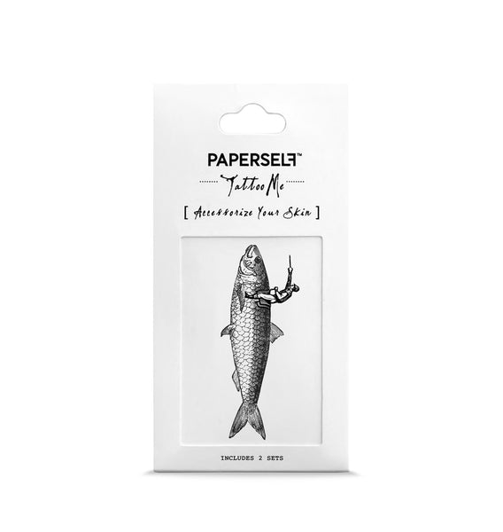 Fish Jockey Temporary Tattoo PAPERSELF