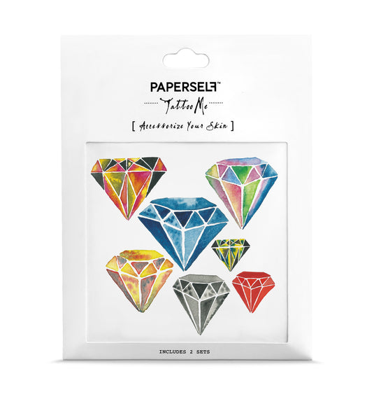 Diamonds Temporary tattoos PAPERSELF