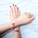 Customisable Burgundy Garden Chain Tattoo by PAPERSELF