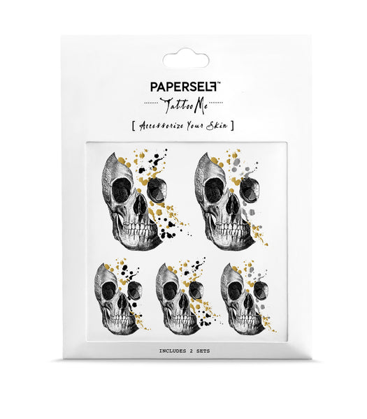 Skull Temporary tattoos PAPERSELF