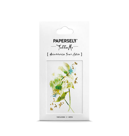 Green Blossom Temporary tattoo PAPERSELF