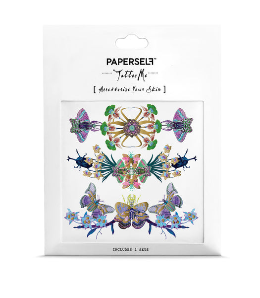 Chain of Floral Insecta Tattoo PAPERSELF