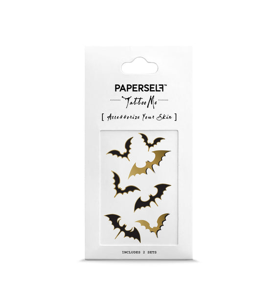 Bats Metallic temporary tattoo by PAPERSELF