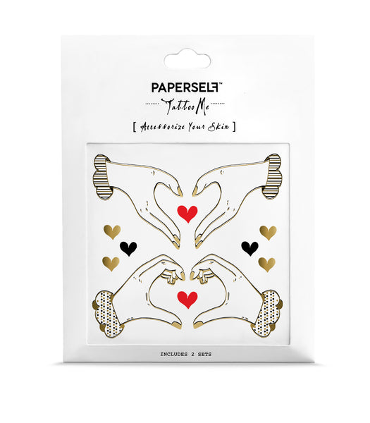 I heart you Temporary tattoo PAPERSELF
