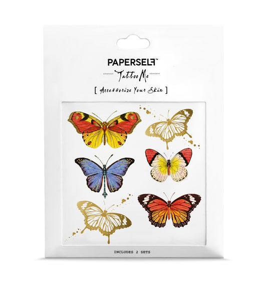 Butterflies Metallic Temporary Tattoos by PAPERSELF