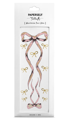 Ballerina Bow Temporary Tattoo by PAPERSELF