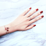 Create your own Burgundy Garden Chain Fake tattoo
