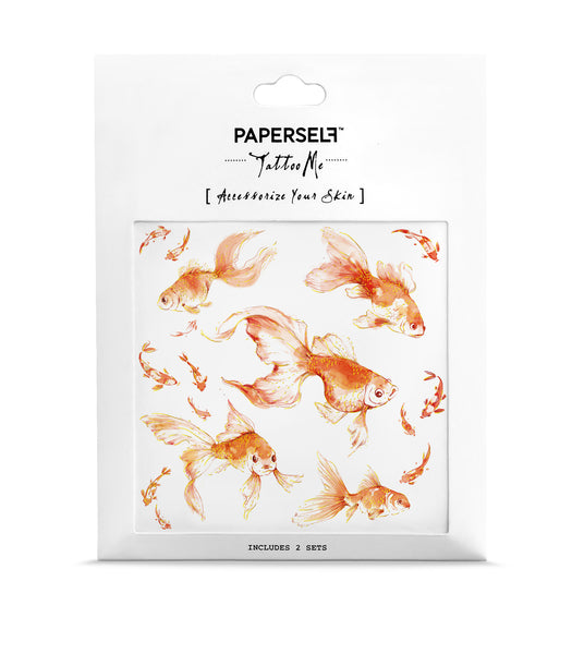 Goldfish 2 Temporary Tattoo