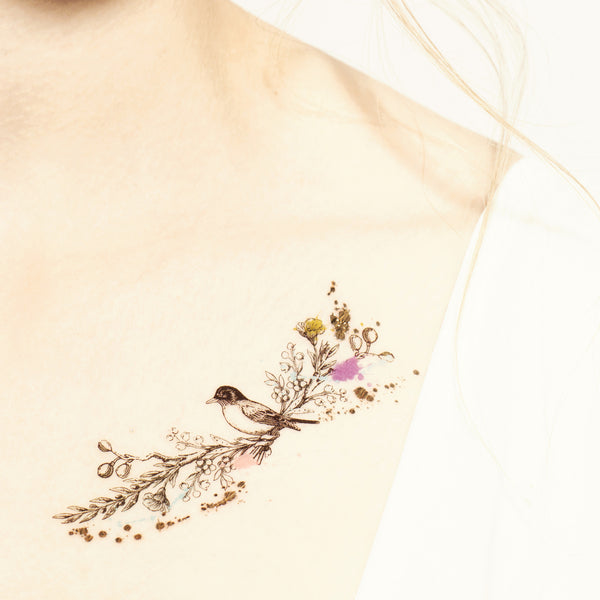 Love Birds Temporary tattoo PAPERSELF