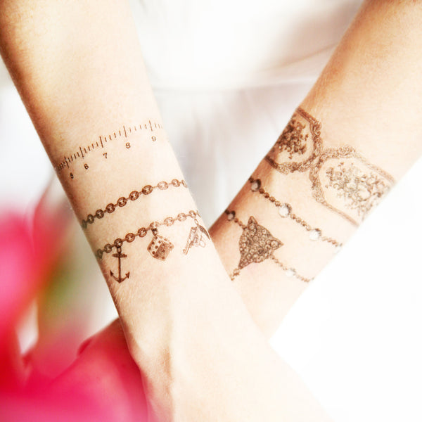 Jewelled Fox Bracelet Temporary tattoo PAPERSELF