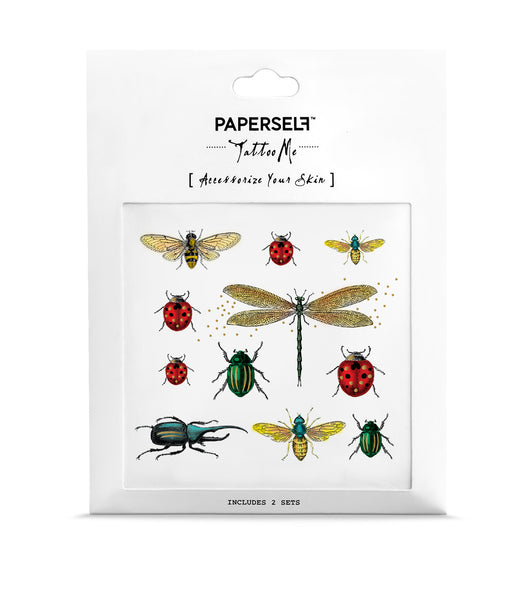 Bugs Metallic Temporary Tattoos by PAPERSELF