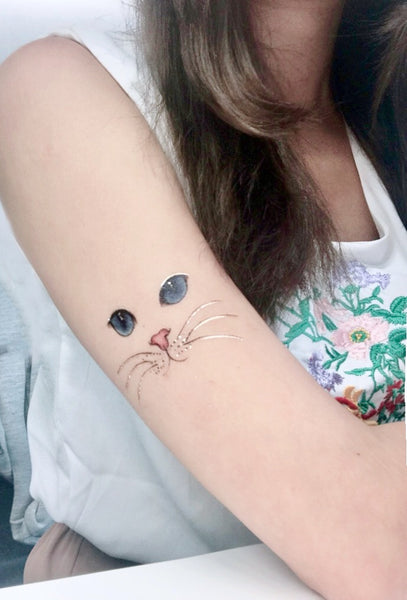 PAPERSELF Cat Gold Temporary Tattoo