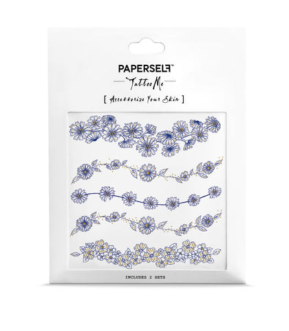 Daisy Bloom temporary tattoo paperself