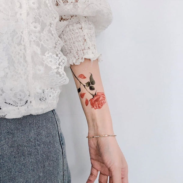 English Rose Temporary Tattoo