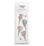 Floral Ice Cream Temporary Tattoo
