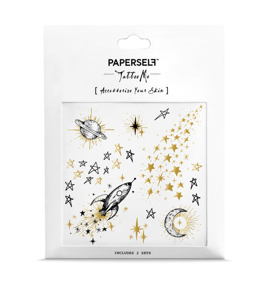 Galaxy Temporary tattoo PAPERSELF