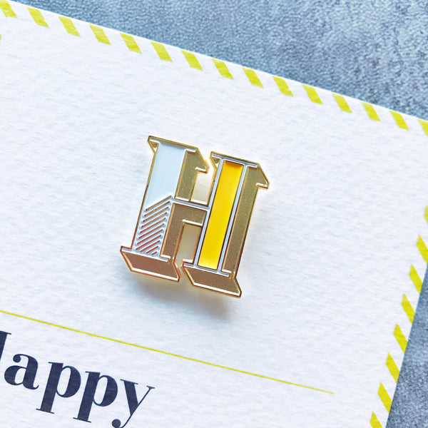 luxury alphabet letter pin from UK