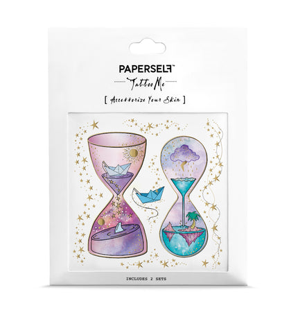 Hourglass Metallic Temporary Tattoo
