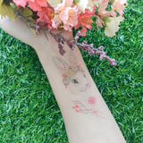Rabbit In The Garden Temporary Tattoo