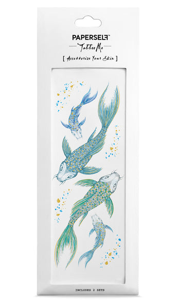 Koi Temporary tattoo PAPERSELF
