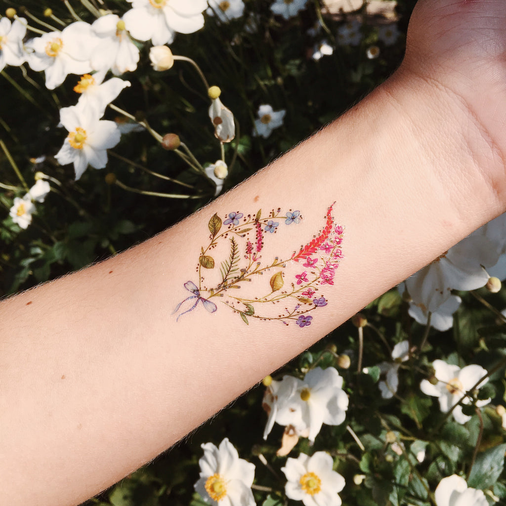 Mini Bouquet Temporary Tattoo Paperself