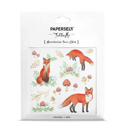 Mr Fox Temporary tattoo PAPERSELF