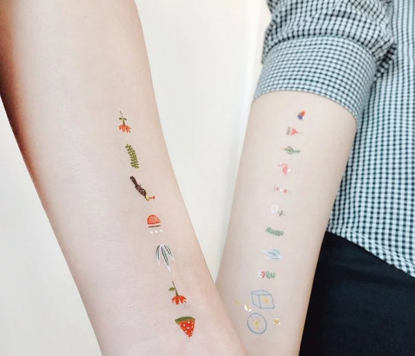 The King of Cactus White Temporary Tattoo