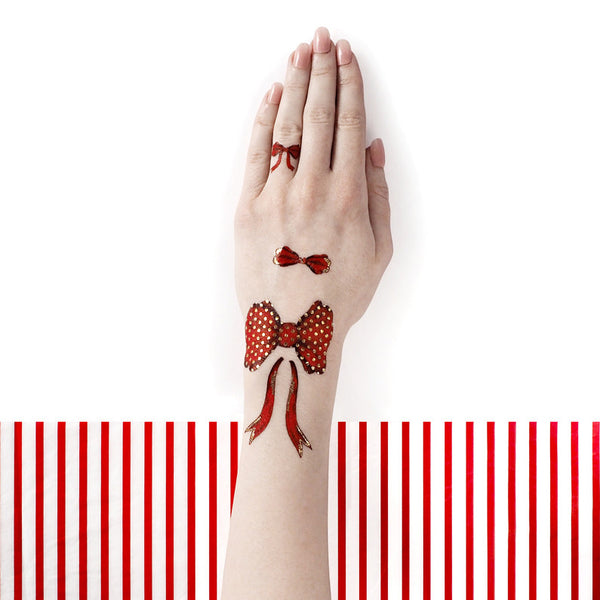 Red Bow Tie Temporary Tattoos by PAPERSELF