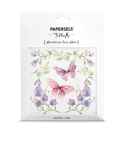 Butterflies In The Garden Temporary Tattoos