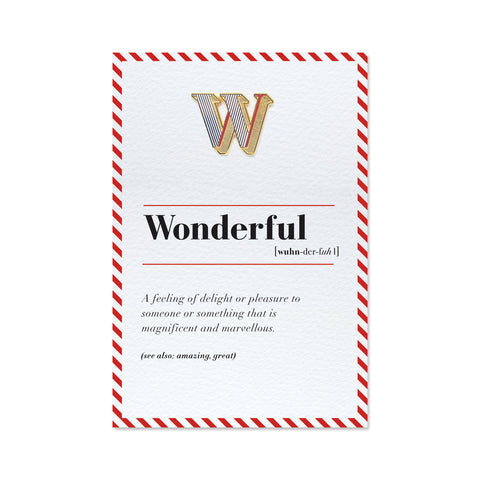 letter w pin and personal card gift