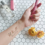 flower alphabet letter temporary tattoo design