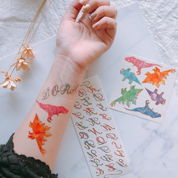 t-rex temporary tattoo