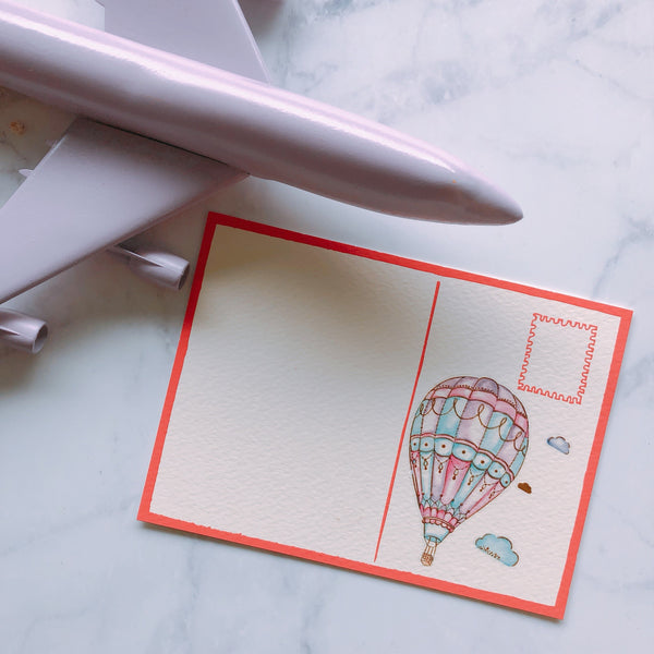 hot air balloon temporary tattoo sticker