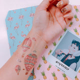 hot air balloon temporary tattoo